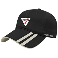 Black KONI Hat with Triangle & Stripes